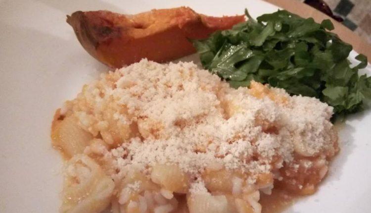 Ориз со тиква, макарони и пармезан