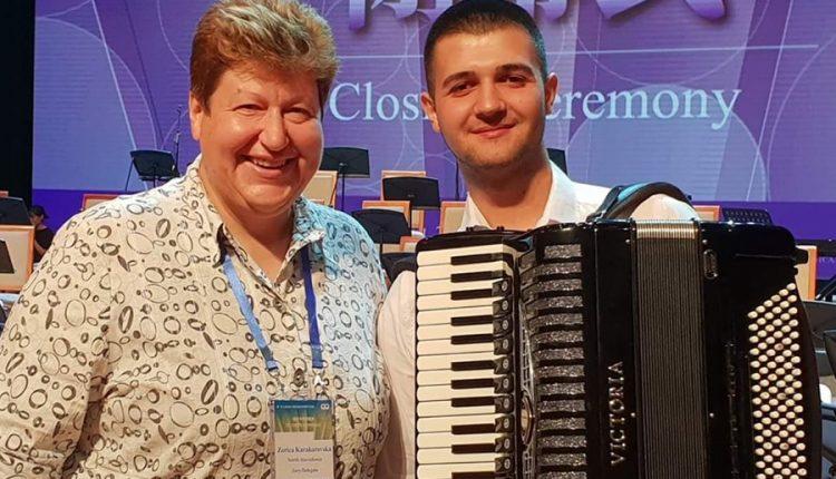 Синот на Сашко Велков, Давид, освои 13 место на World Accordion Championships во Кина