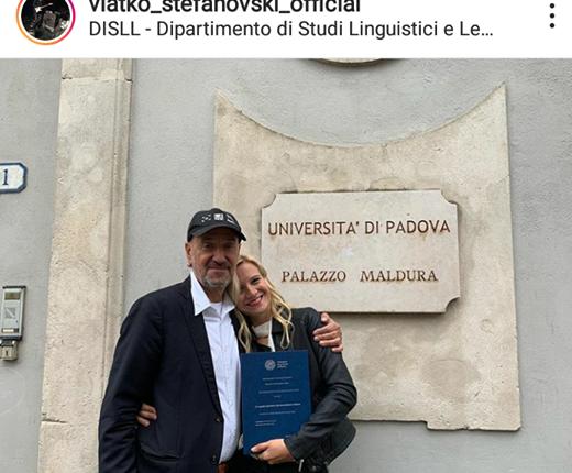 Ќерката на Влатко, Ана Стефановска одбрани докторат во Италија