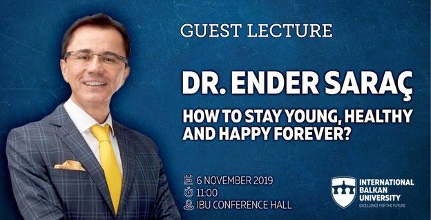 Предавање. Турскиот гуру Ендер Сарач за здрав живот и здрави навики на Меѓународниот Балкански Универзитет